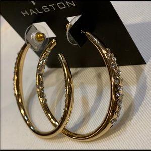 Halston! Golden Hoop Earrings